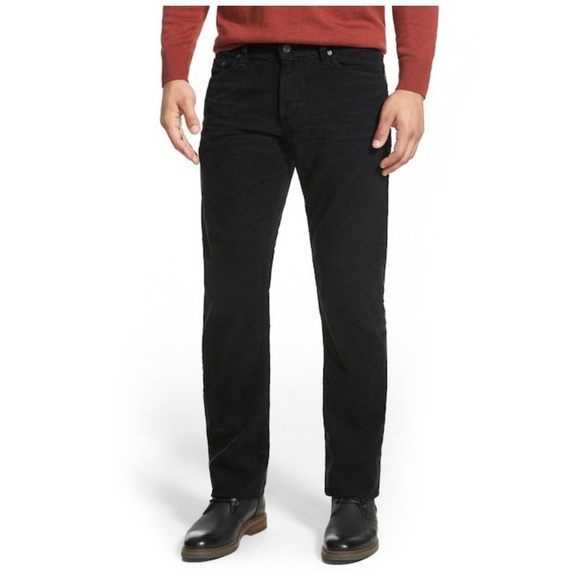 83c206666ca81 AG Sulfur Black Graduate Tailored Straight Pants